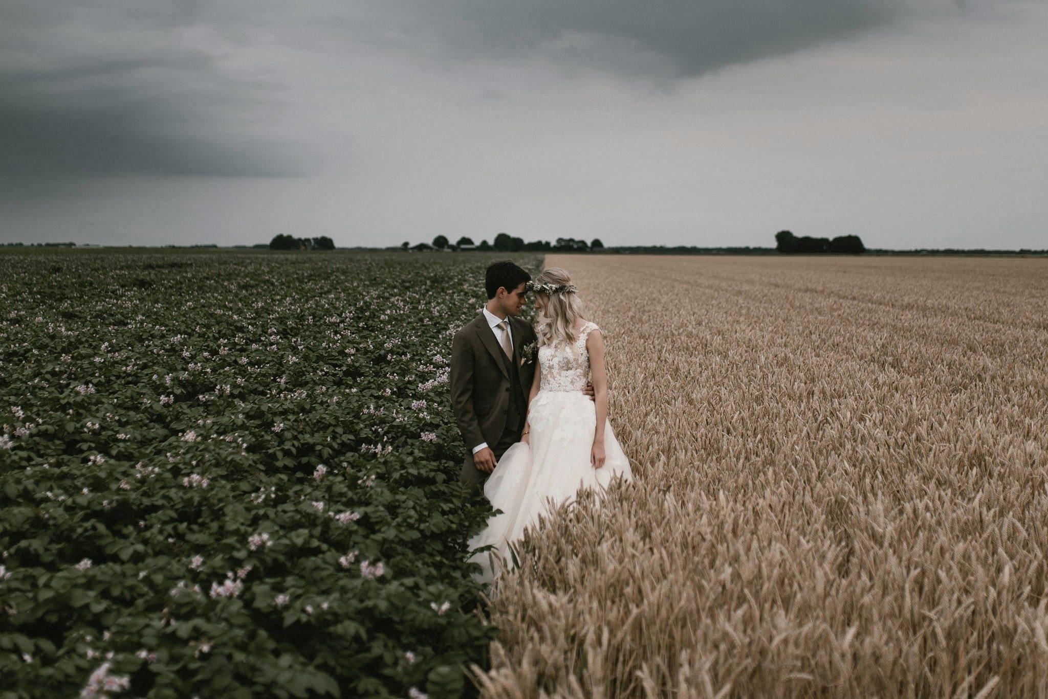 Artistieke bruidsfotografie door Naomi van der Kraan
