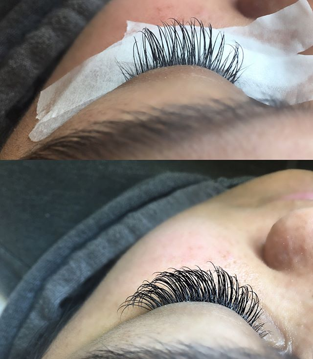 This is an example of how your #lashes should look after 2-3 weeks of retention with #proper application.  #healthylashes  #3weekretention #beforeandafter