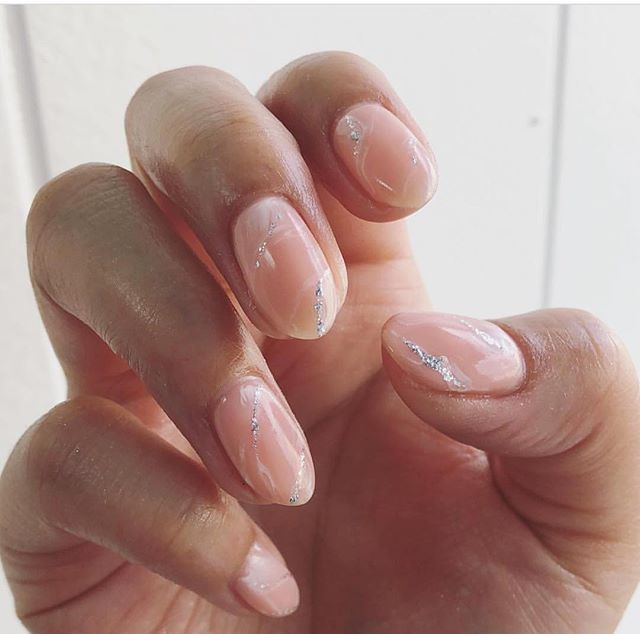 #rosequartz #nails on the lovely @dskjewelry  #naturalnails #gelnails using #passion by @opi_products