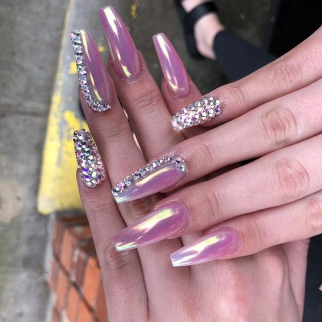#Birthday #nails on the lovely @shelbytriglia 🎂🍾🎉 #Seattle #Tacoma #Bellevue #Auburn #wa #pnw