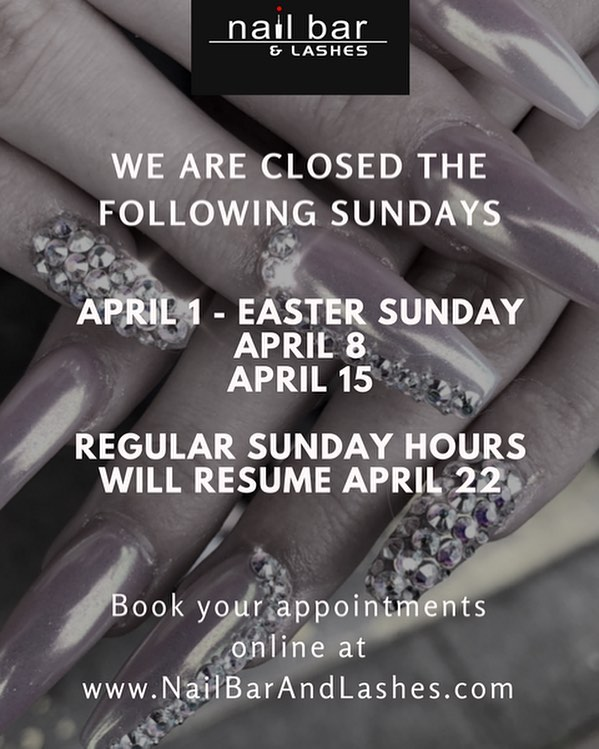 If there are any questions with scheduling or any questions at all, please feel free to call us at 253-329-2954 or email us at  questions@nailbarandlashes.com