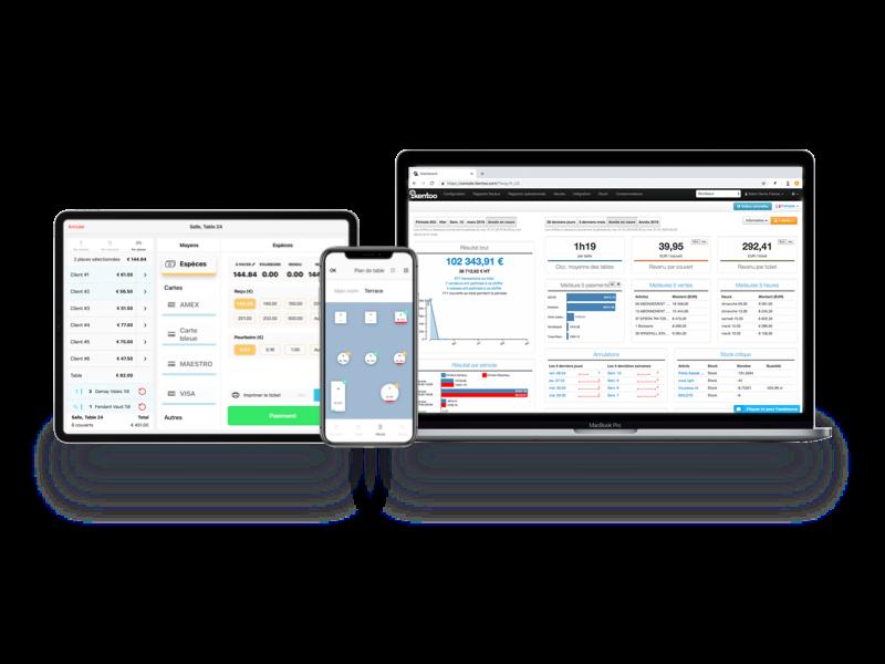 Produits iKentoo caisse enregistreuse mobile plateforme gestion