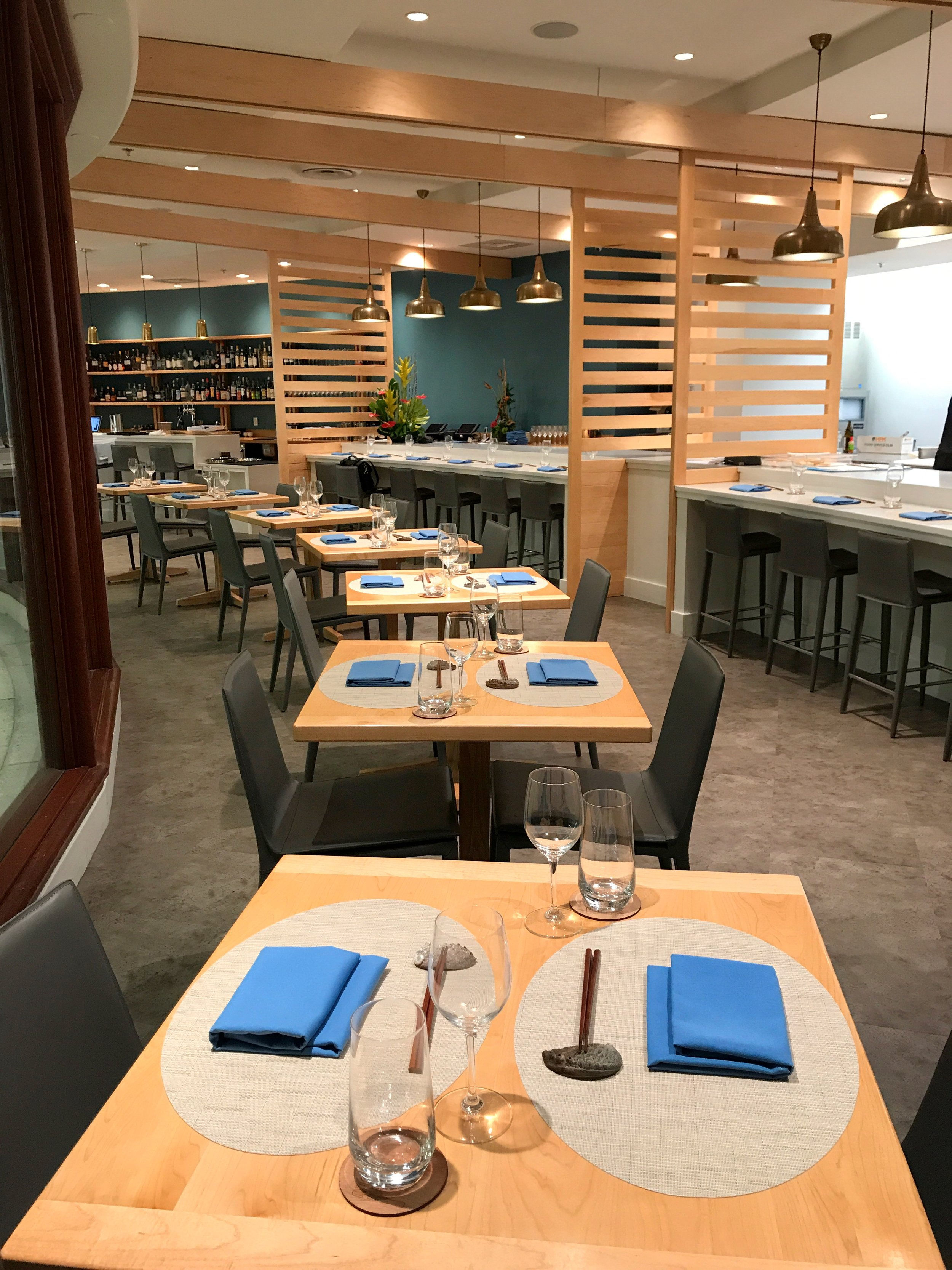 Dining room (up to 14 seats - we can accommodate up to 26 seats by using a mix of tables) and chef's counter (up to 10 seats)  Outdoor seating - up to 22, seated, or 30, cocktail-style.  Enjoy a completely private event and reserve the entire restaurant (seats up to 50 guests).
