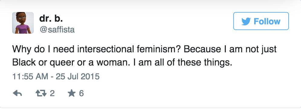 Intersectional feminism in one tweet