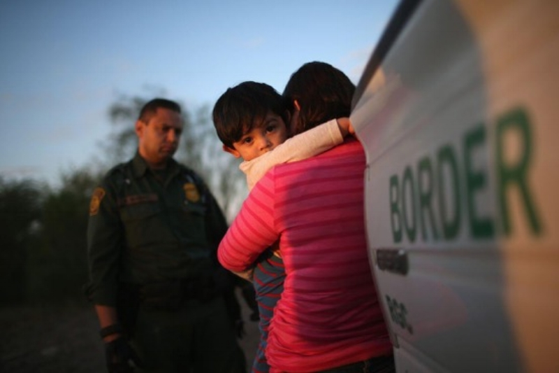 America taking Away Immigrant Children from Parents