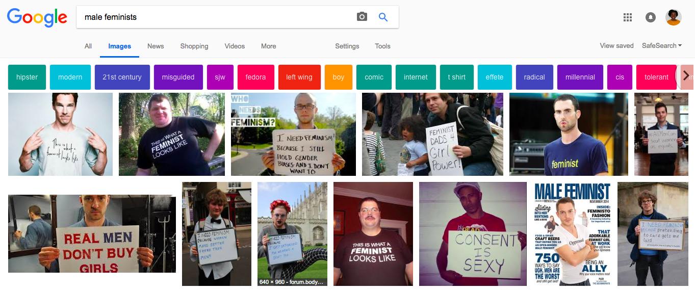 Male feminists