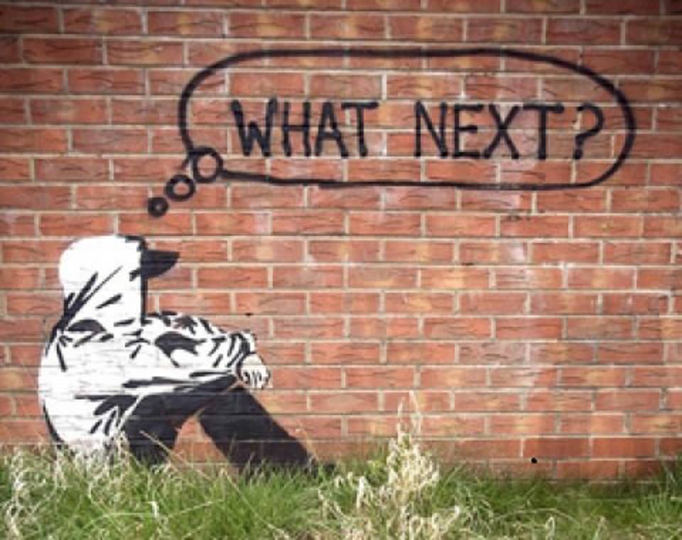 What Next graffiti, waithood