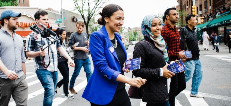 Alexandria Ocasio-Cortez campaigns in Queens | Corey Torpie/Ocasio-Cortez campaign