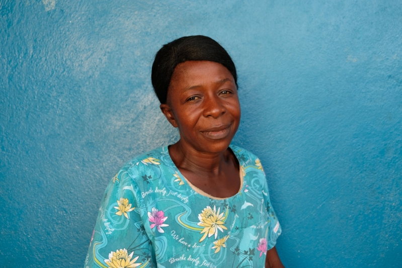 Regina Korgbendeh, Traditional Birth Attendant (TBA) for Wellbody Clinic, Kono, Sierra Leone.