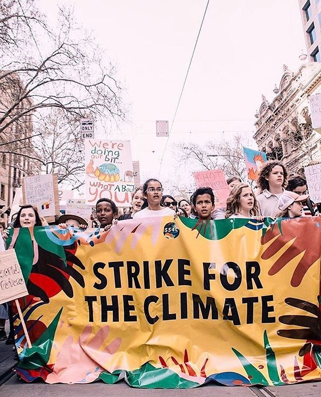 """I want you to feel the fear I feel every day. And then I want you to act. I want you to act as you would in a crisis. I want you to act as if our house is on fire."" - @gretathunberg 🌳🌎🌈 #TodayWeStrike #ForTomorrow #ForUs #ForOurFuture #ClimateStrike #ClimateCrisis #Justice • • Photo by @webster.cao"