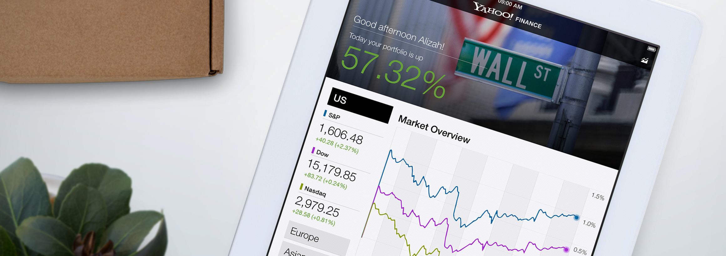 Yahoo! Financefor iPad - Product Strategy, Ui/ux Design