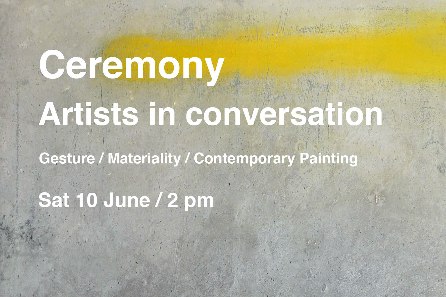 Ceremony artists in conversation at No 20