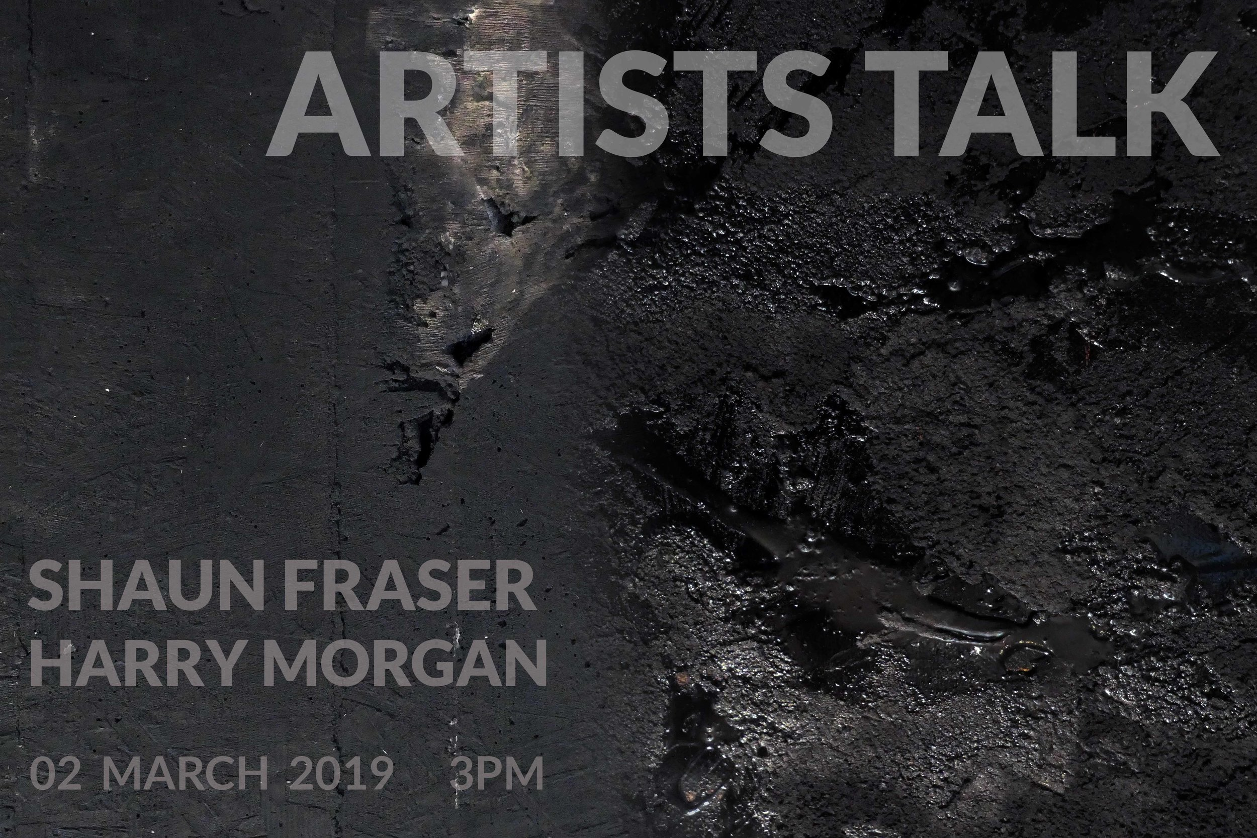 Artists Talk: Shaun Fraser & Harry Morgan at No 20 Arts