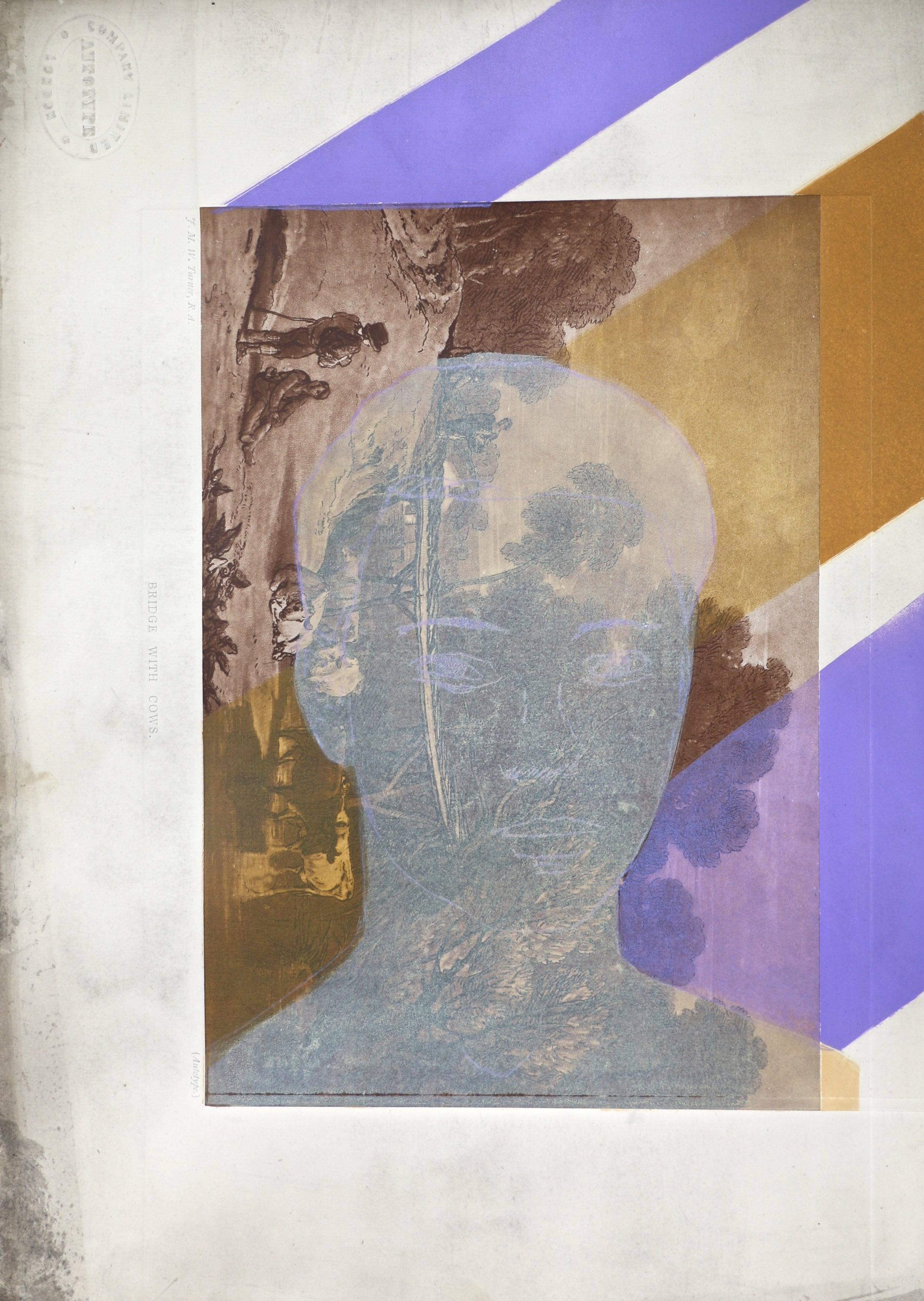 The Visitor    37 x 26 cm  Dryprint and Monoprint on Turner Autotype