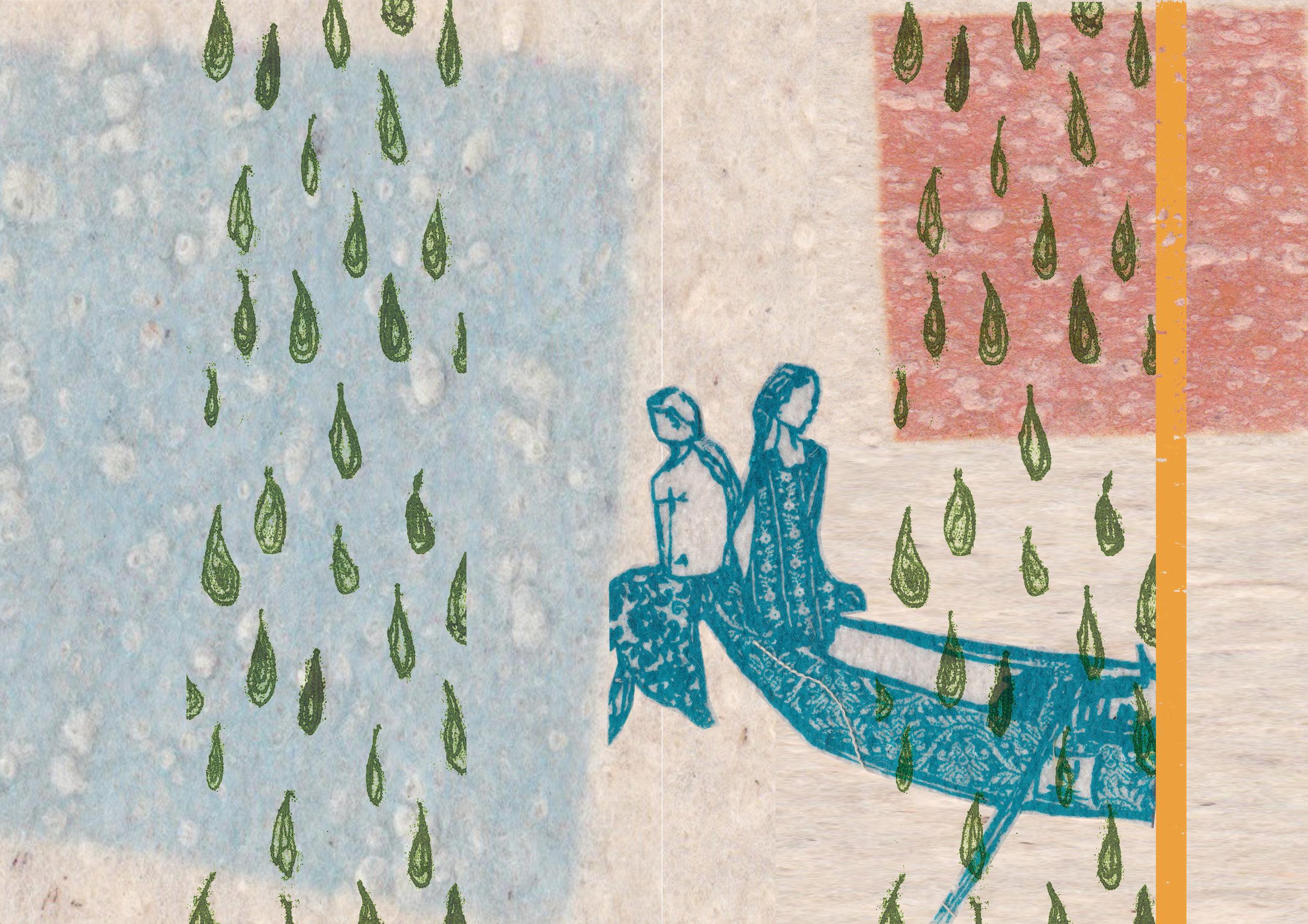 Screen print inspired by Batticaloa, east coast.