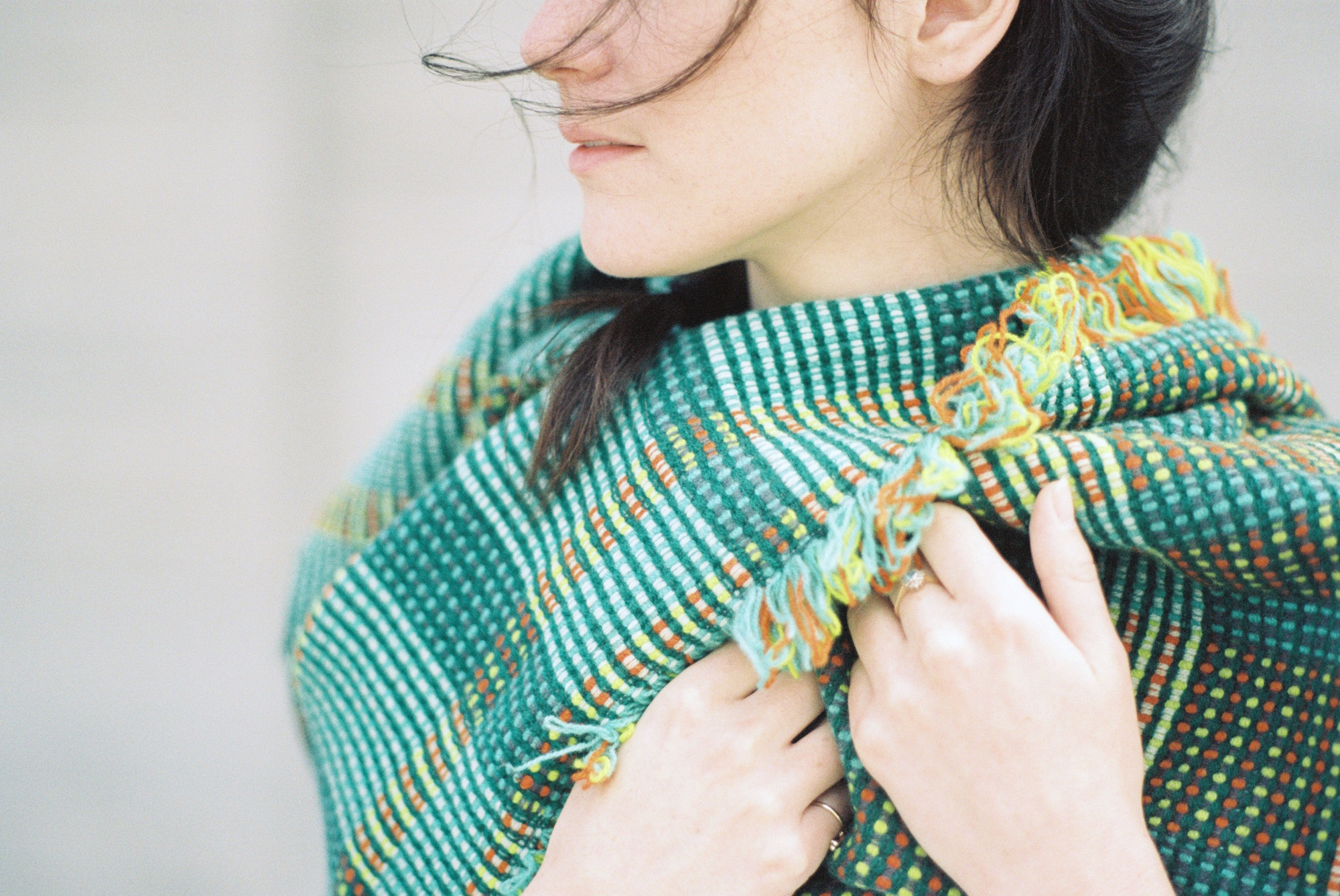 Hand Woven + Dyed Lambswool blankets,