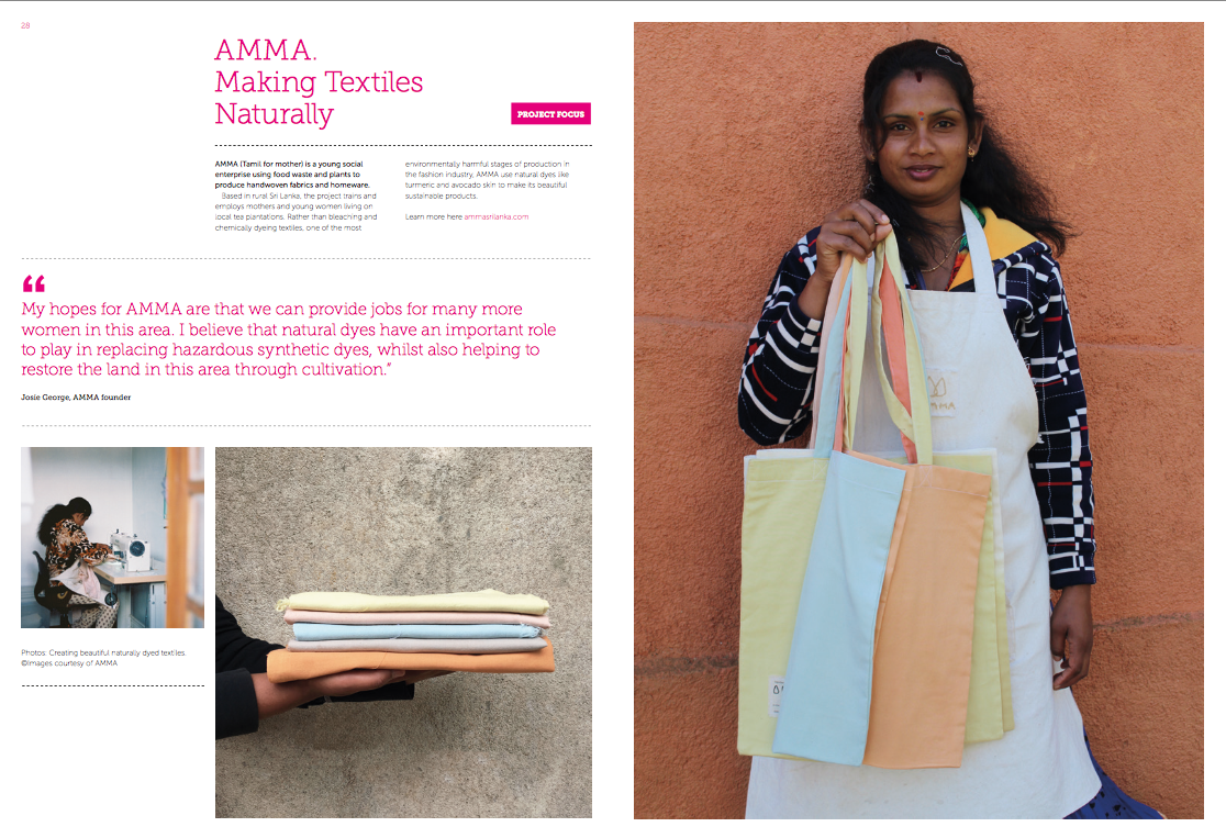Sept 2019: Behind the Seams - AMMA was included in TRAID's most recent booklet about sustainable fashion and the projects they are supporting worldwide.
