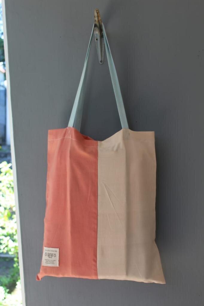 MITSUTEA x AMMA collaboration, tote bag dyed with tea dye