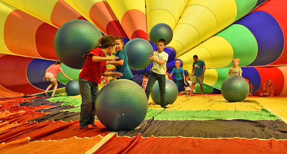KIDS TAKE MAGICAL WALKS AT THE JAMESVILLE BALLOON FEST