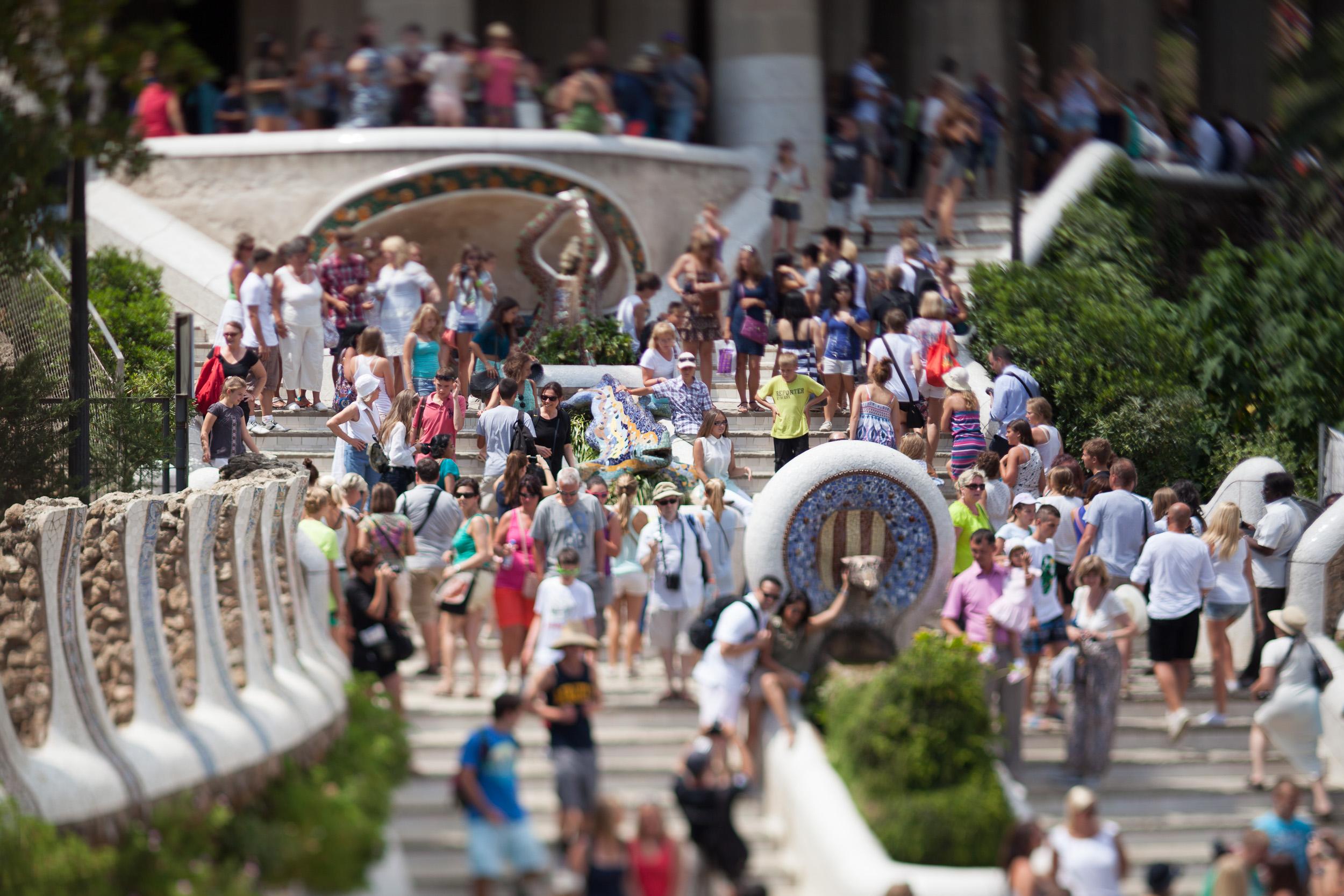 Gaudi's Park Güell Stairs - Alejandro Lorenzo