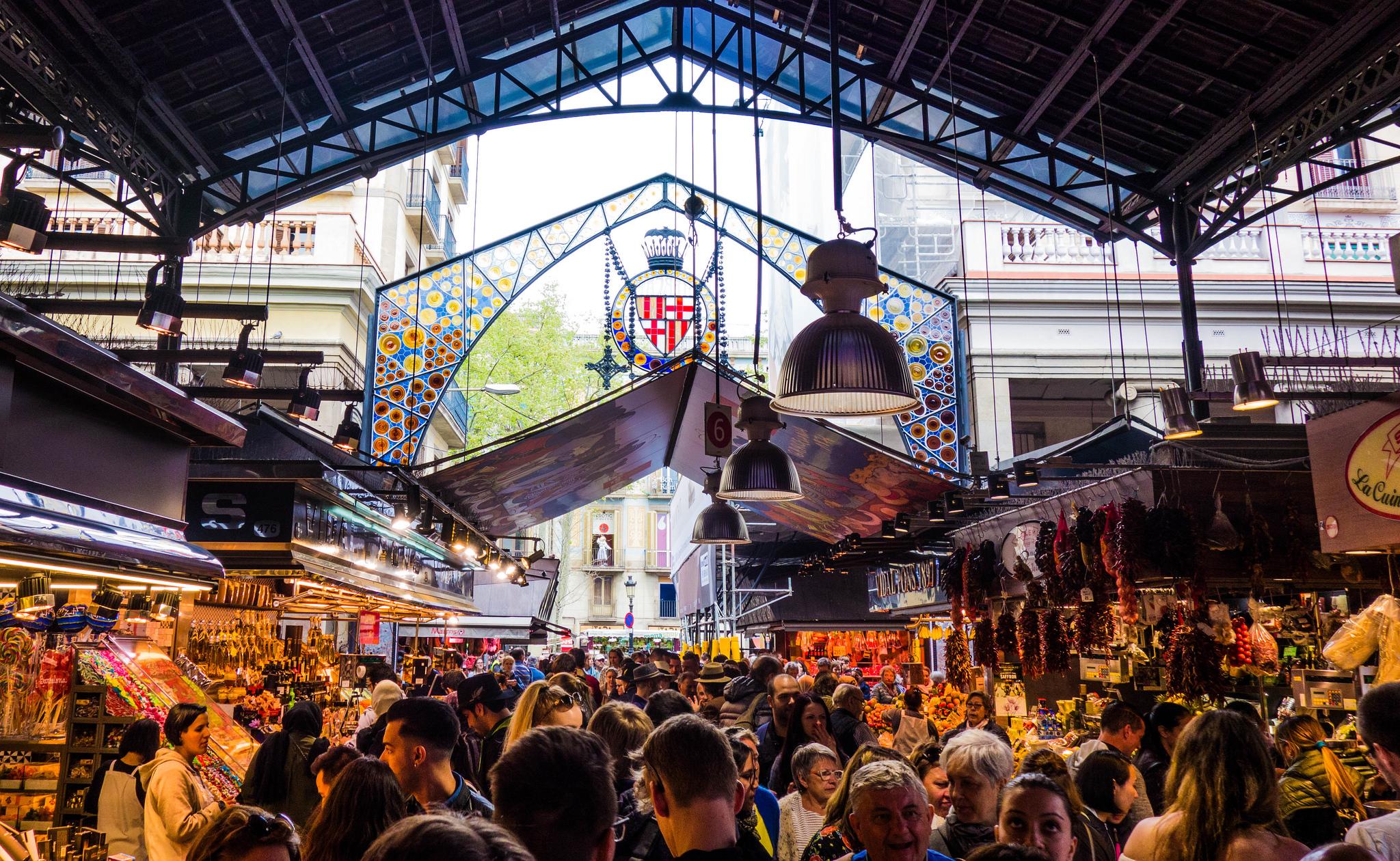 La Boqueria market in Barcelona - GODeX