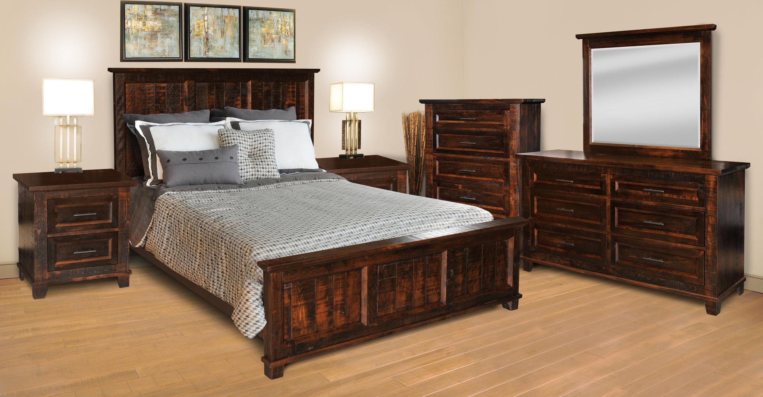 Rustic Algonquin bedroom set