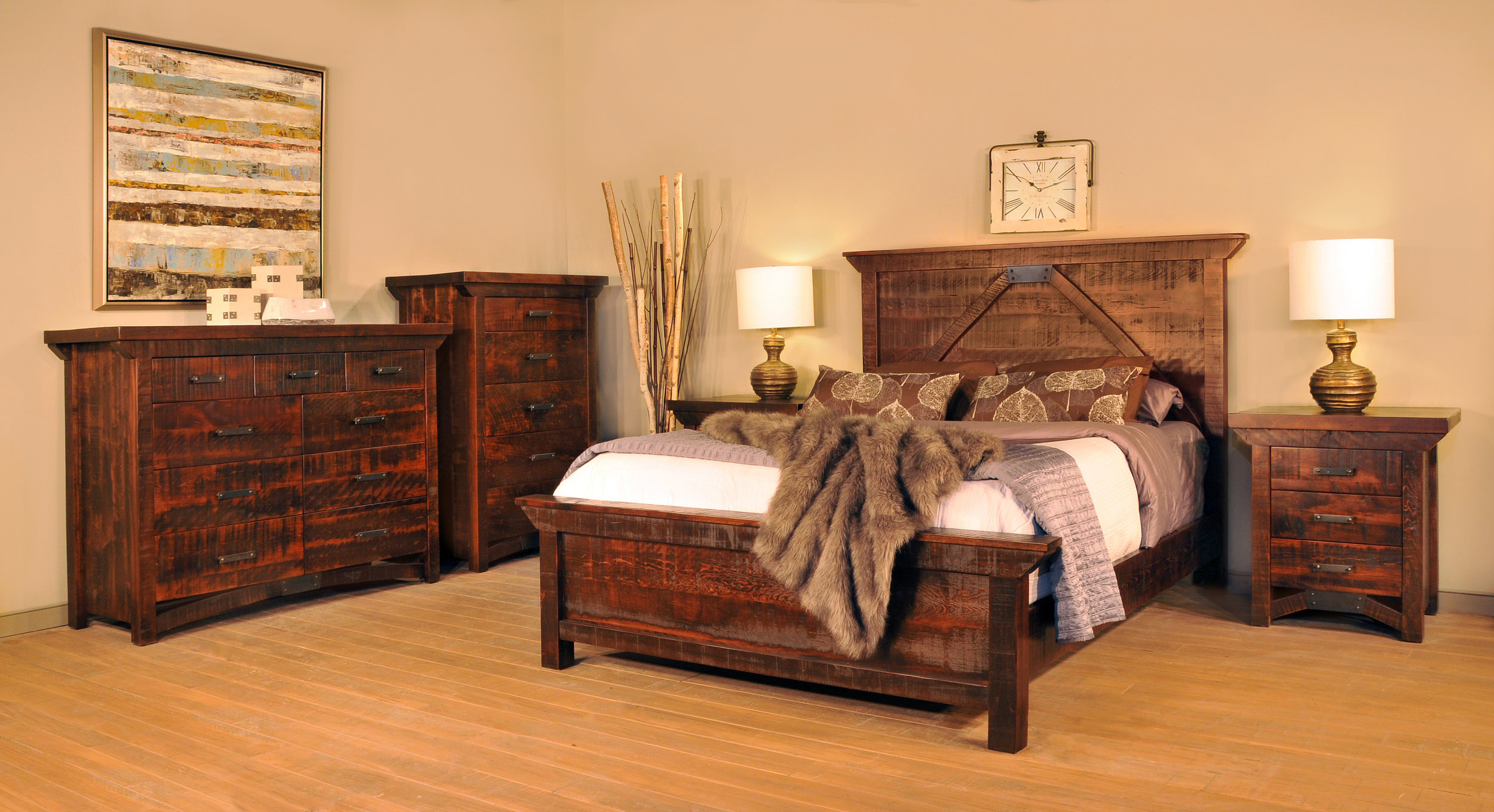 Rustic Carlisle bedroom set for sale in PA