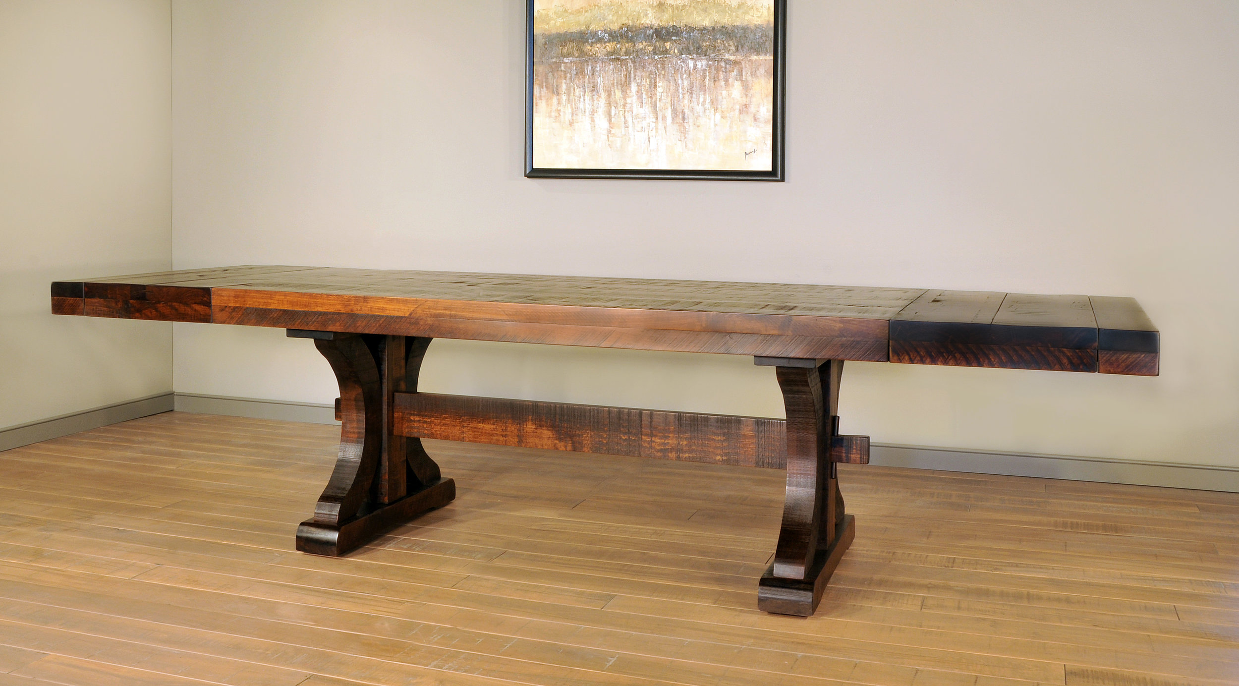 Rustic carlisle table with leaves