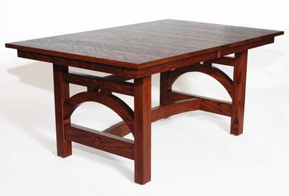 J arch trestle table