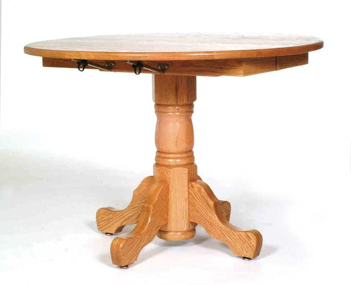 single pedestal drop leaf table