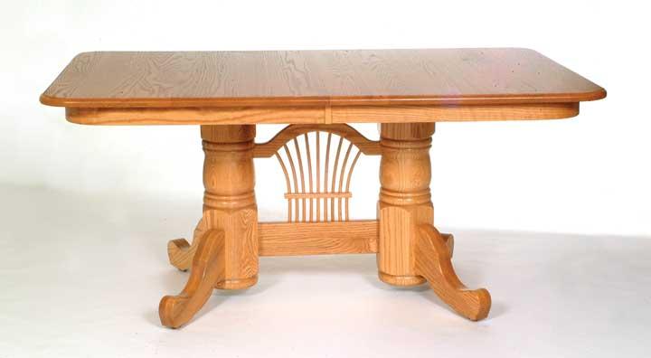 Double pedestal 3 table