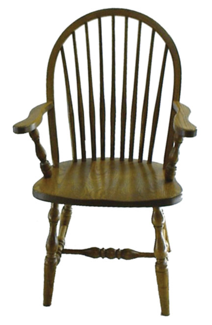 16c 9 spindle arm chair