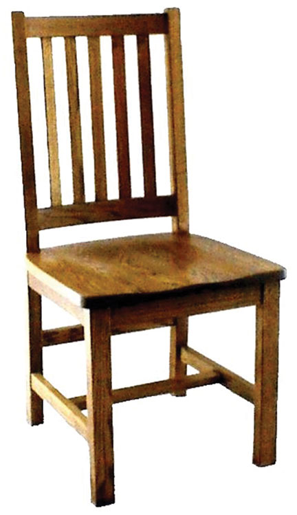 17c schoolhouse mission side chair