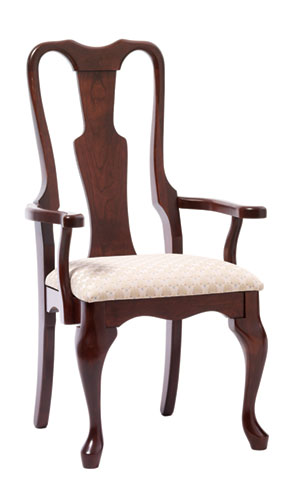 606 queen anne arm chair