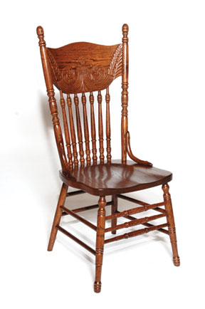 antique press side chair