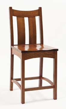 country shaker bar chair