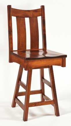 country shaker bar stool