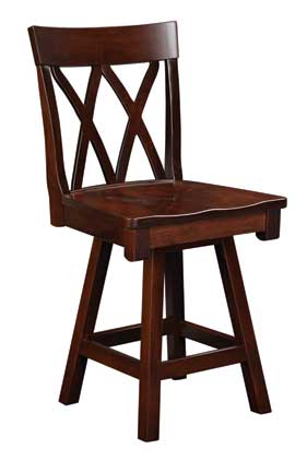double x back bar stool