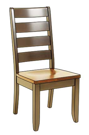 dutch ladder side chair