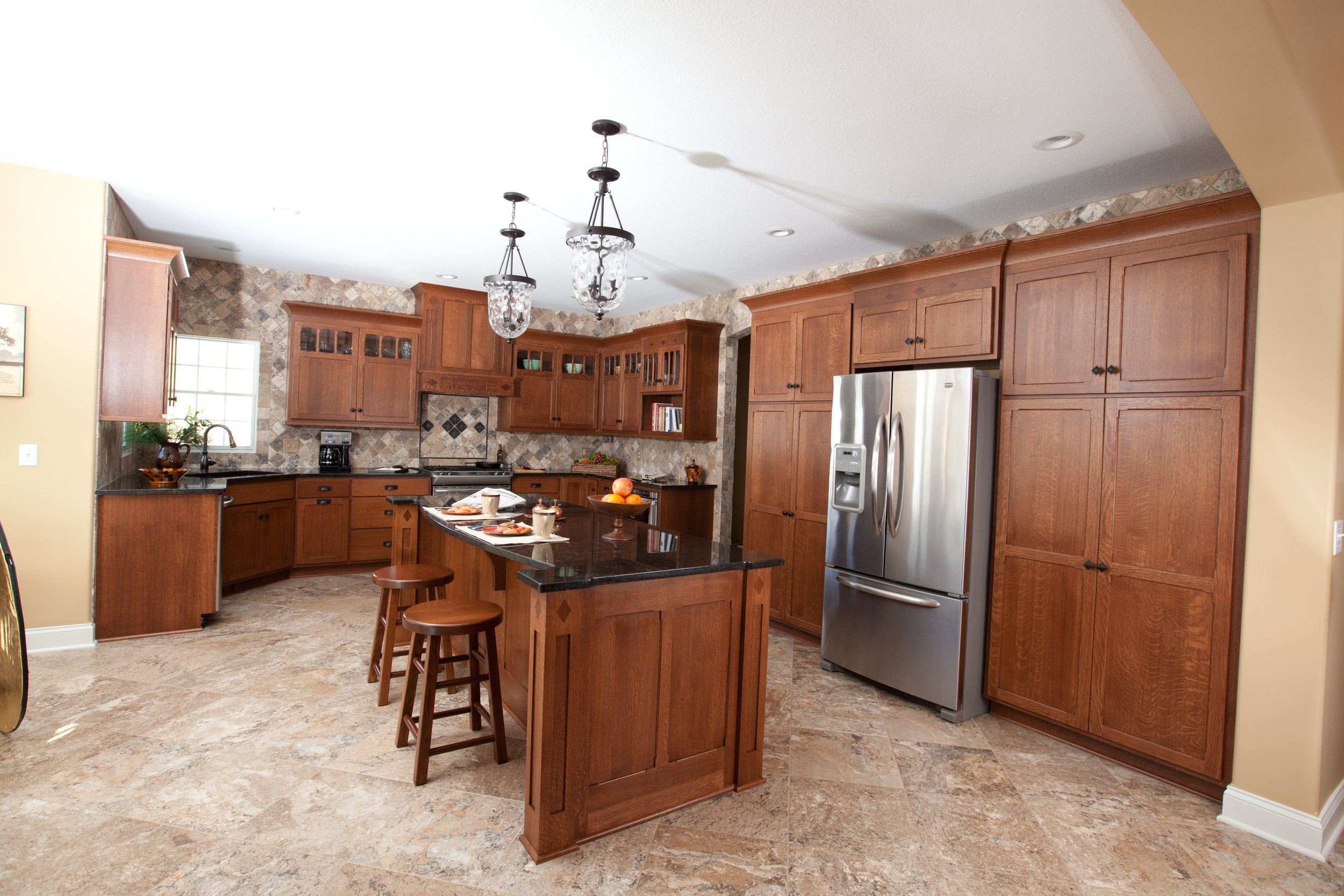 stained kitchen cabinets