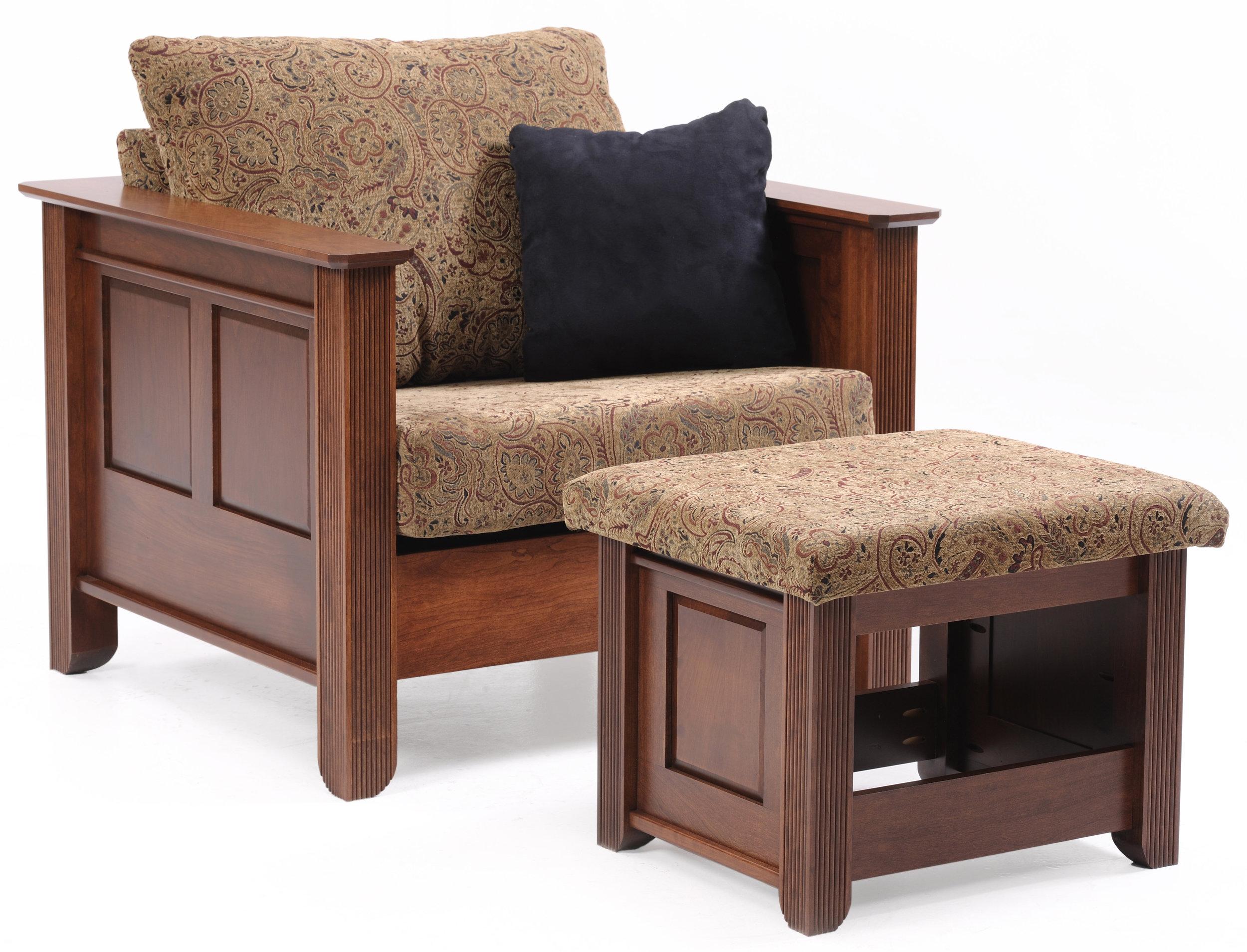 arlington chair and ottamon