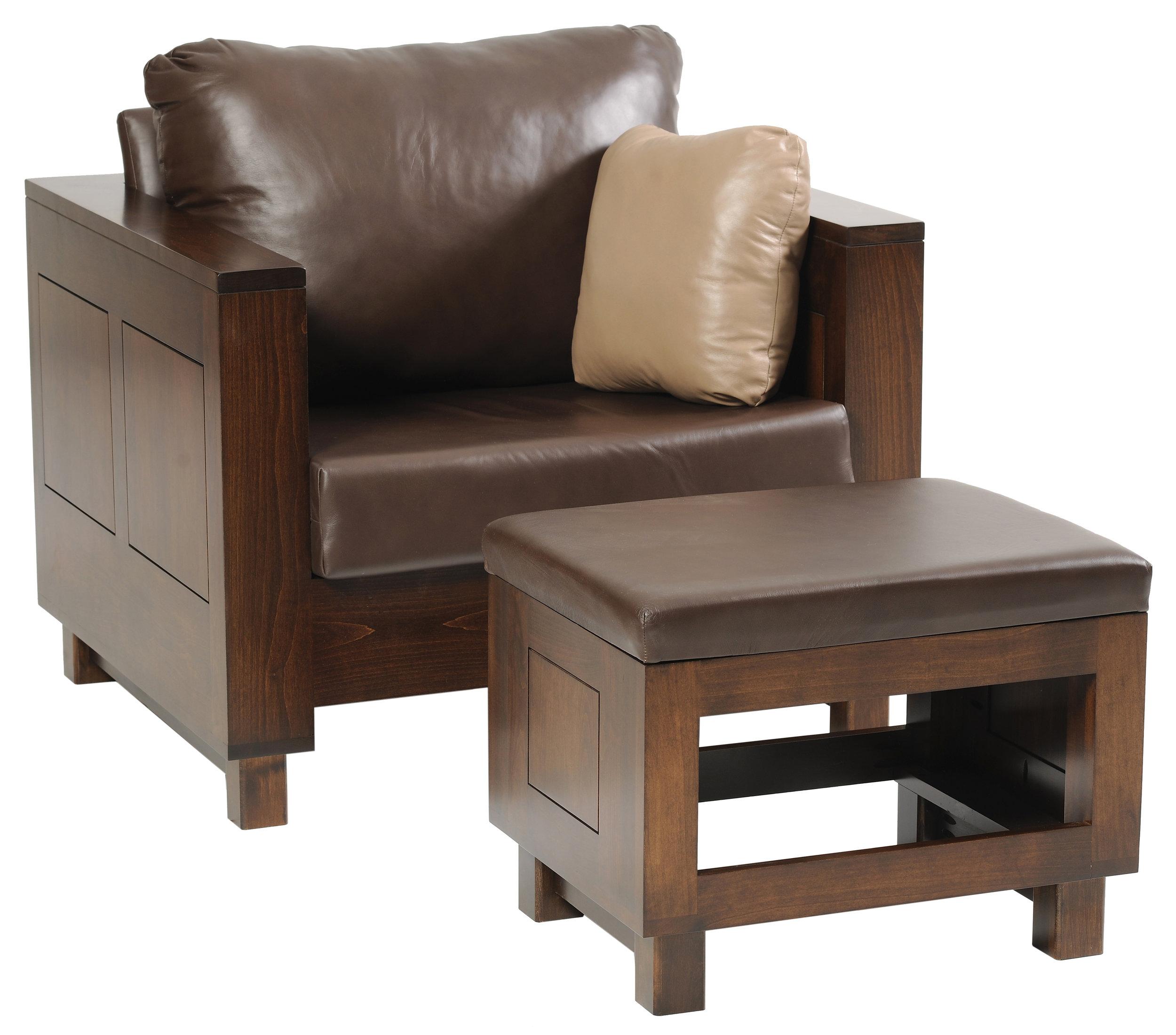 urban chair and ottoman
