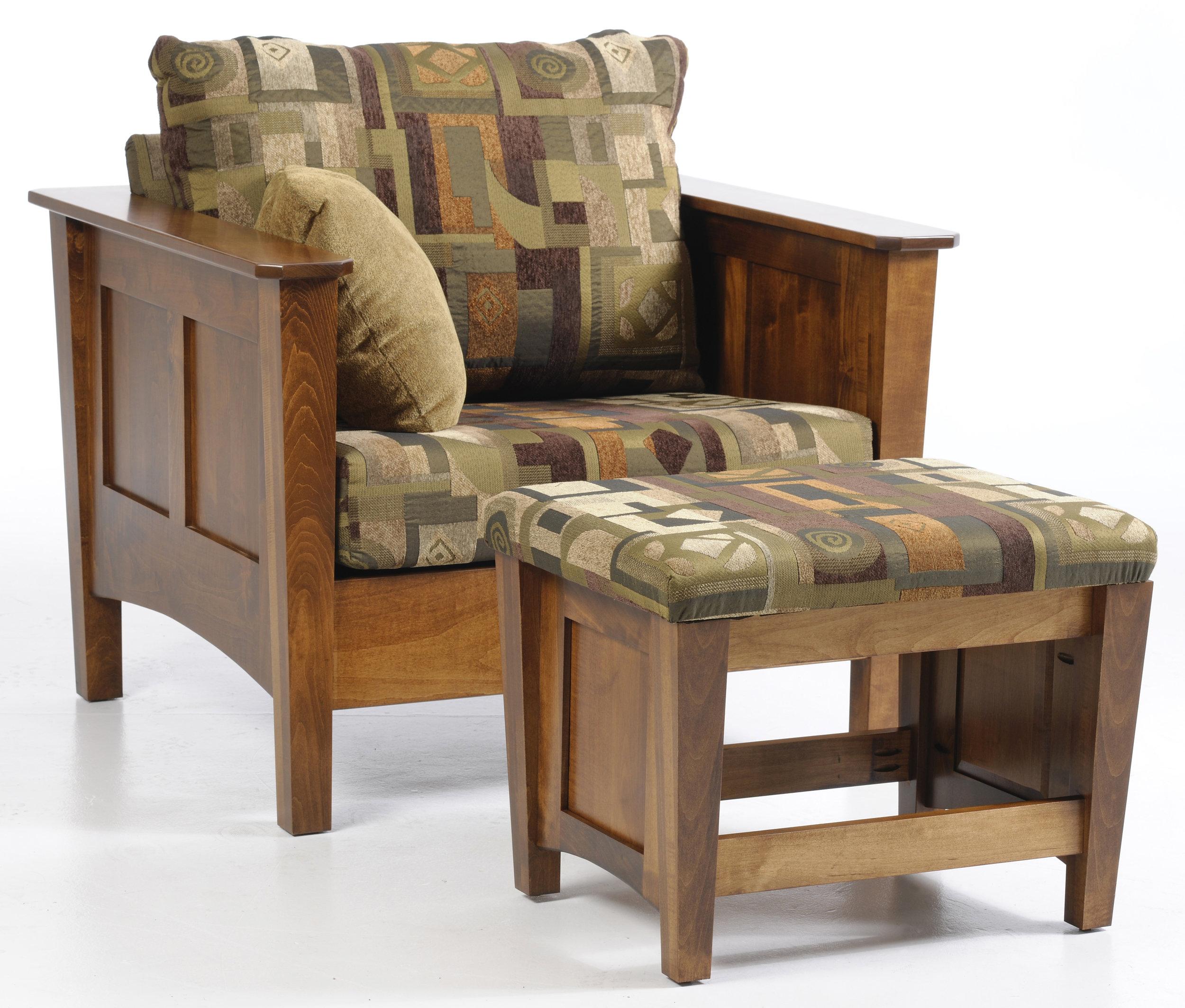 urban shaker chair and ottoman