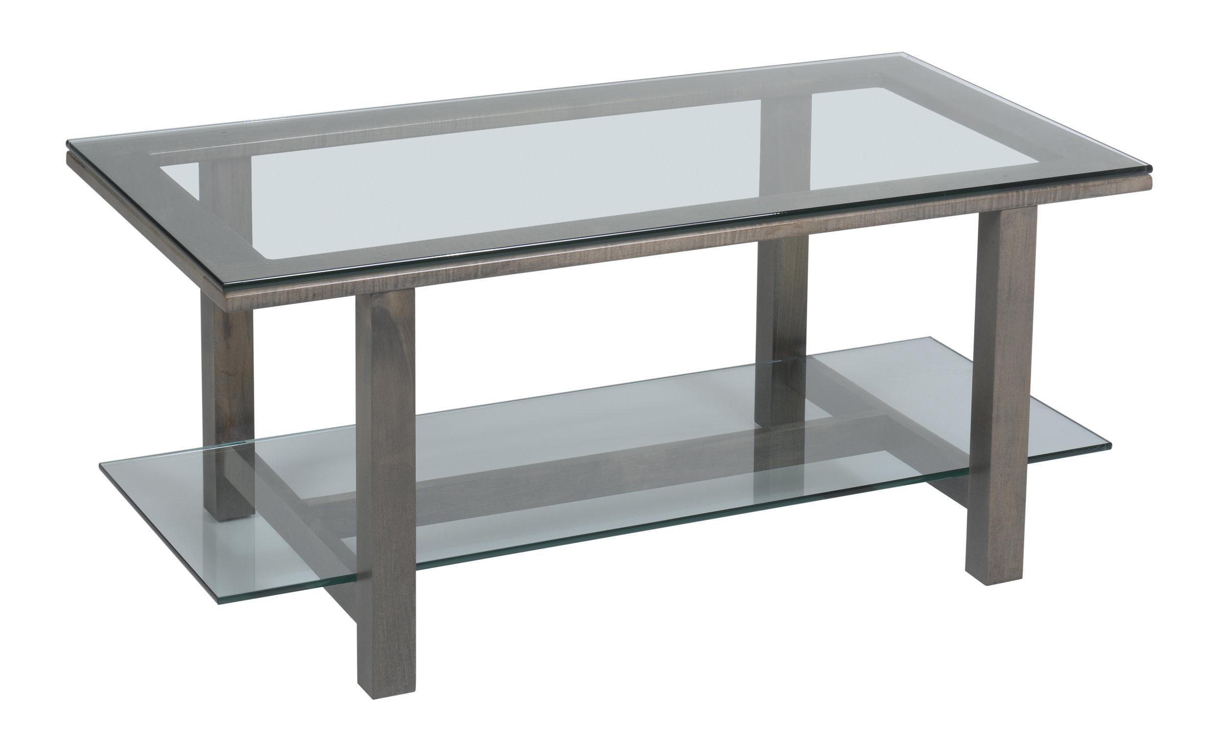 hilton glass coffee table