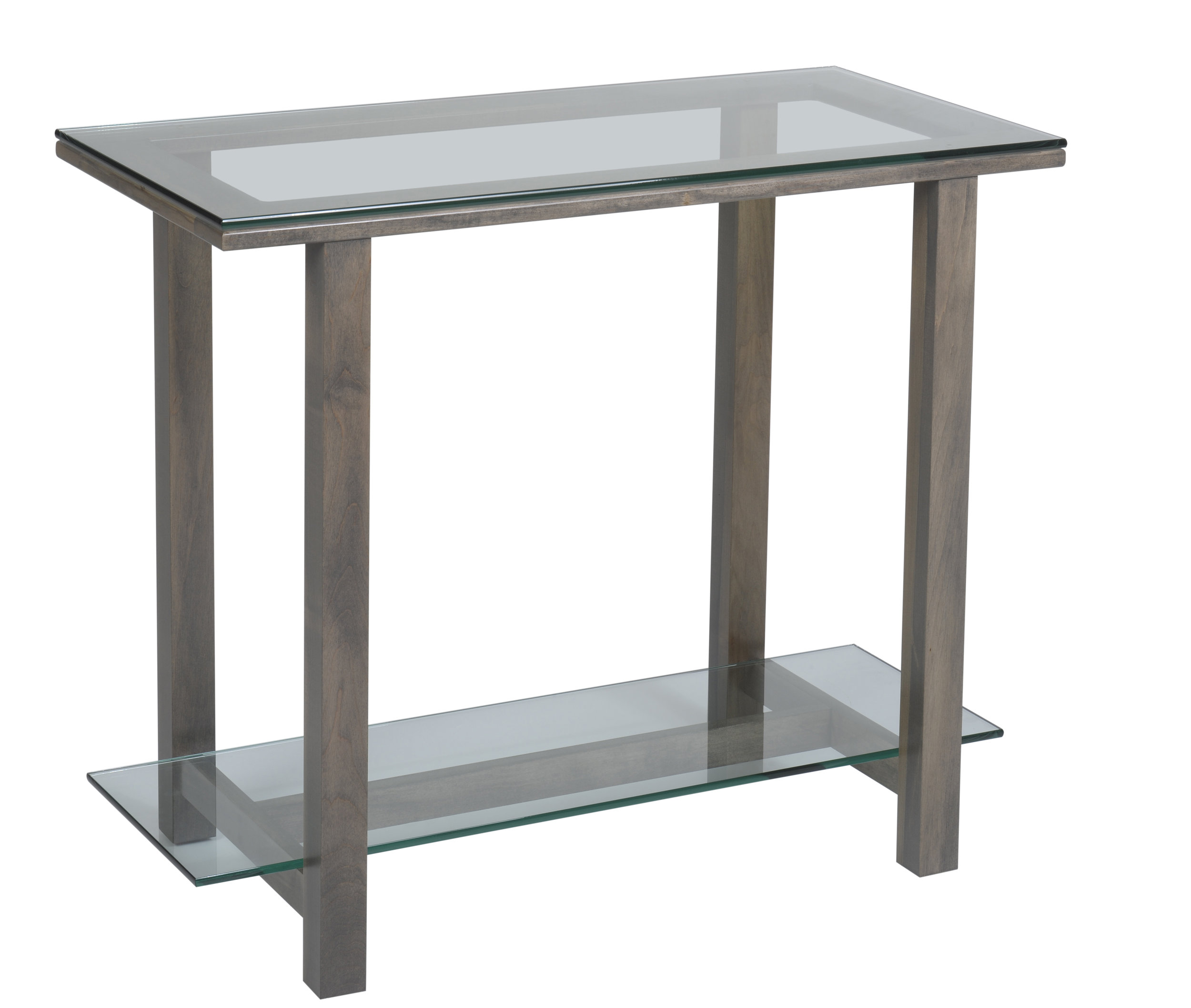 hilton glass sofa table
