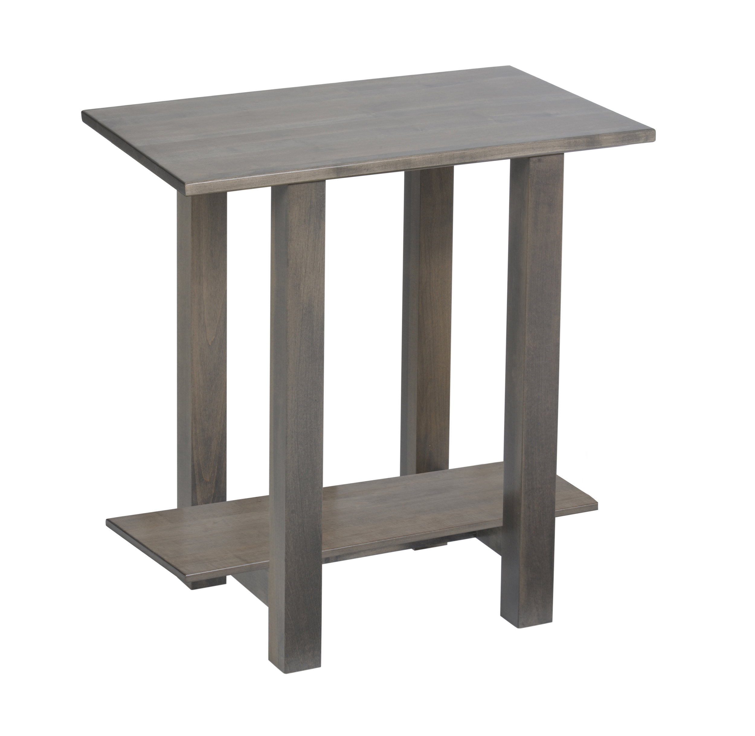 hilton wood chairside table