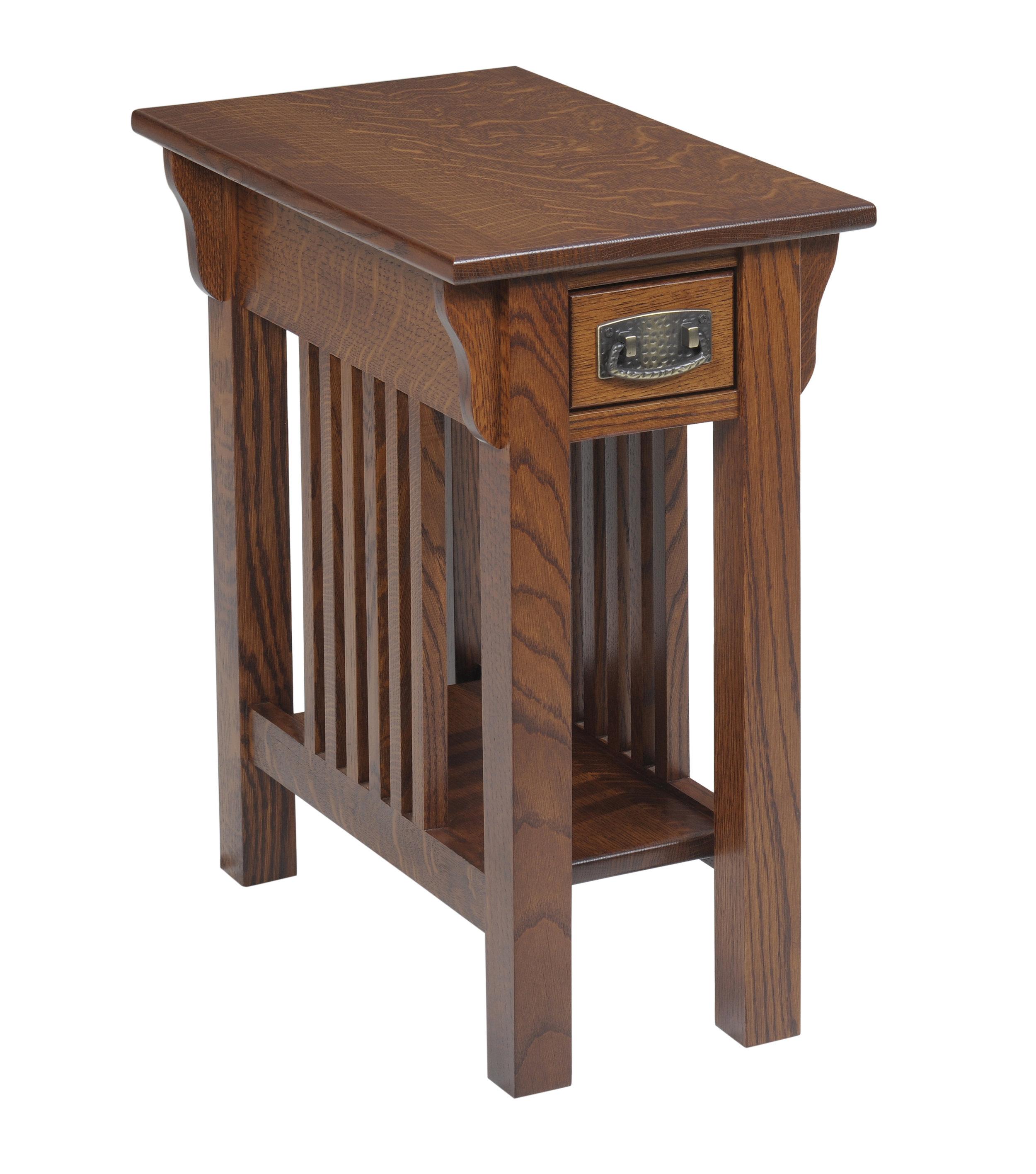 lexington mission chairside table
