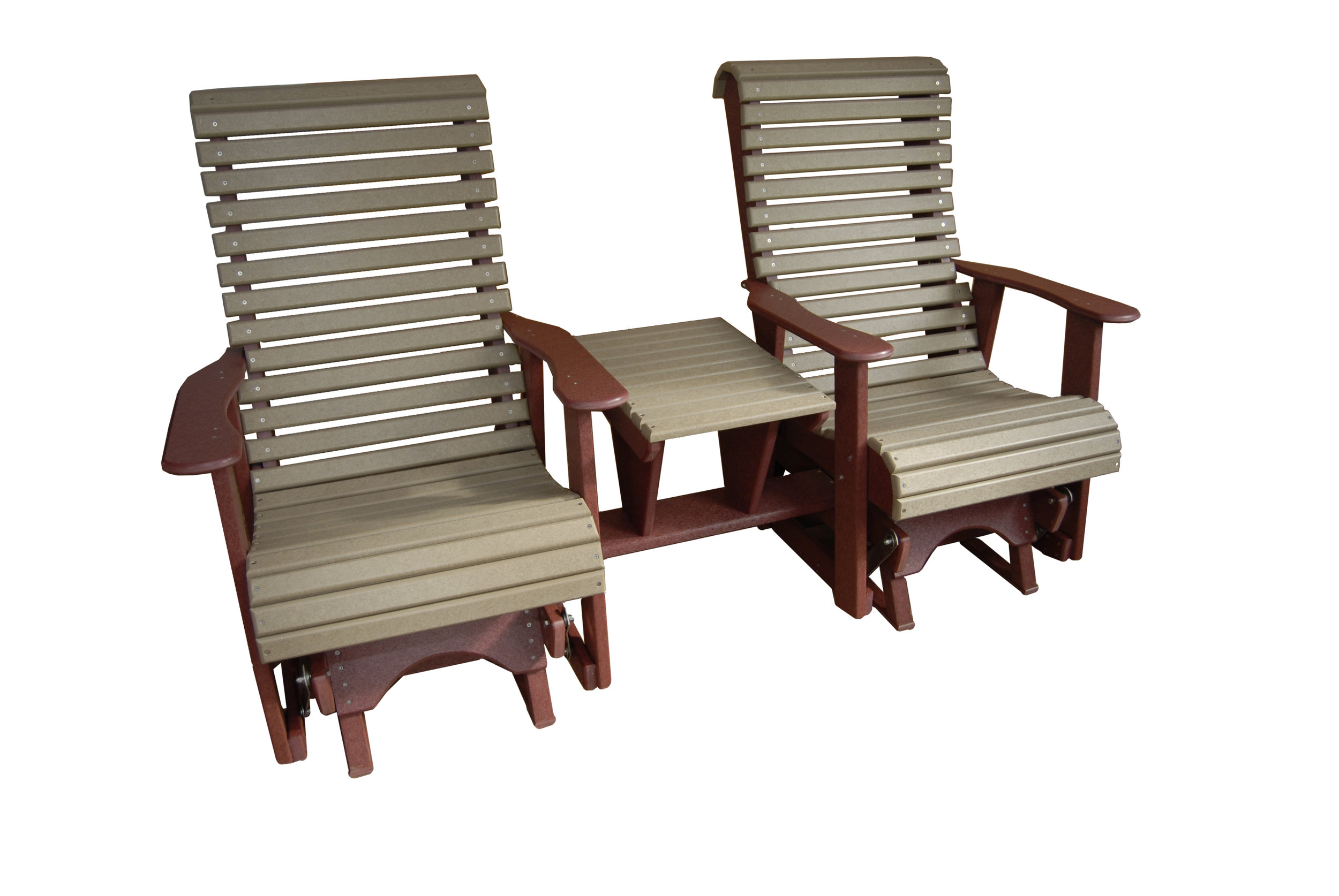 gliding settee high roll back