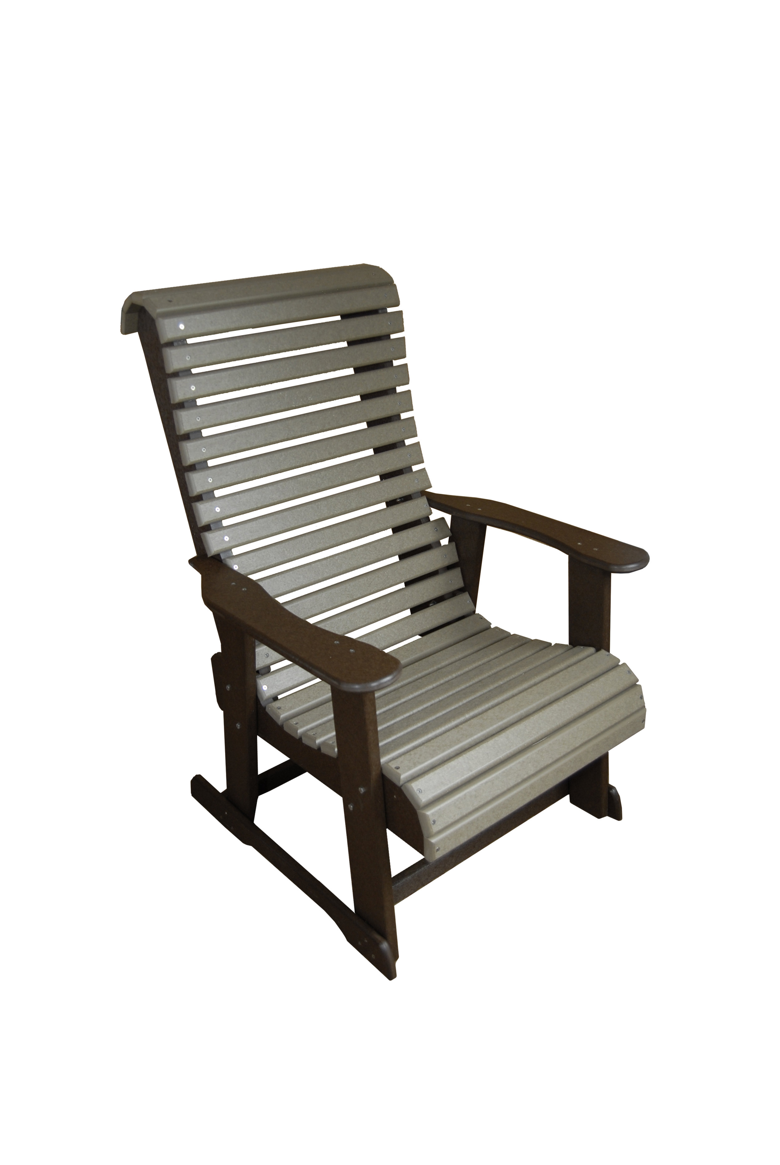 stationary chair high roll back