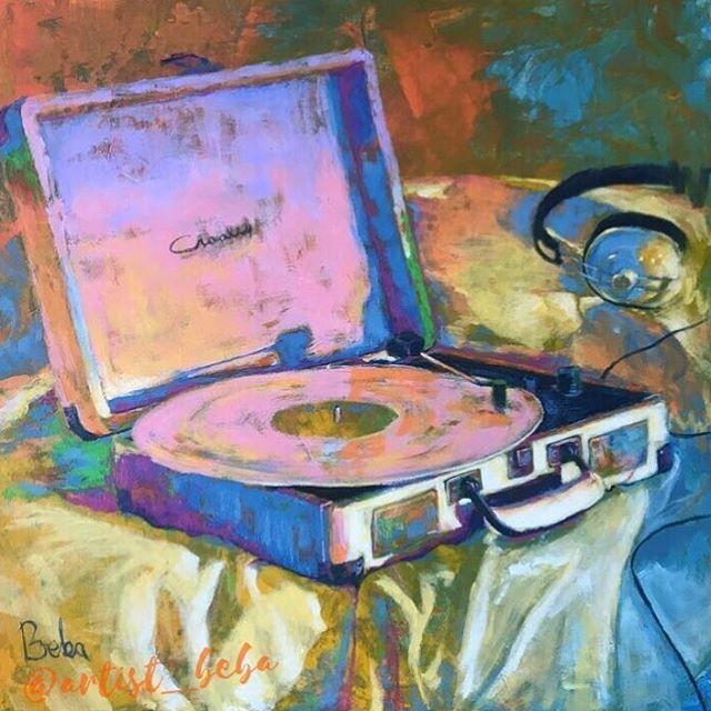 @artist_beba Crosley cruiser painting is amazing💜 #letsdovinyl #crosleyradioeurope #creativewithcrosley #crosleycruiserdeluxe #vinyl #painting #stillifeart